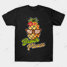 Beach Please Pineapple Sunglasses Hawaiian Flowers T shirt Pineapple tee fruit tropical fruit swimsuit coverup tropical(China)