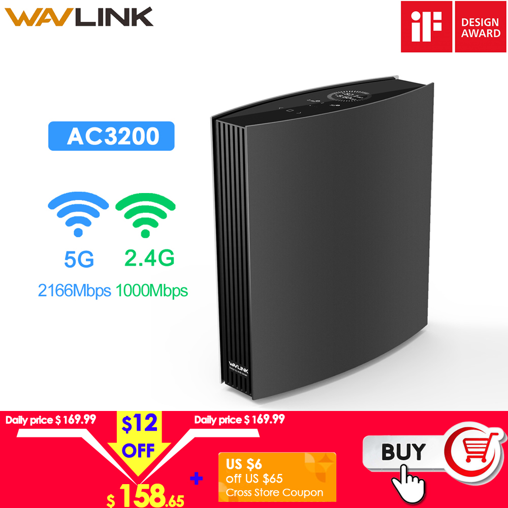 Wavlink Gigabit WIFI Router Wave2 MU-MIMO AC3200 Wi-Fi Router 2.4G 5GHz WIFI Extender Wifi Repeater IF Design Award Winner