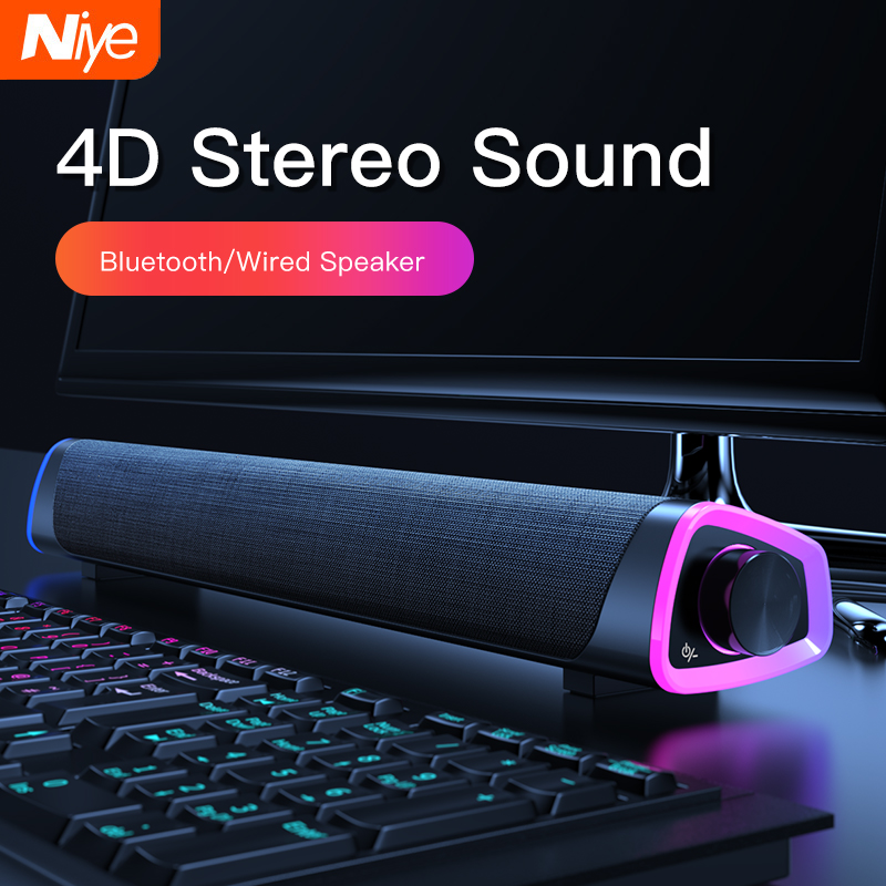 4D מחשב רמקול בר סטריאו צליל סאב Bluetooth רמקול עבור Macbook מחשב נייד נייד מוסיקה נגן Wired רמקול