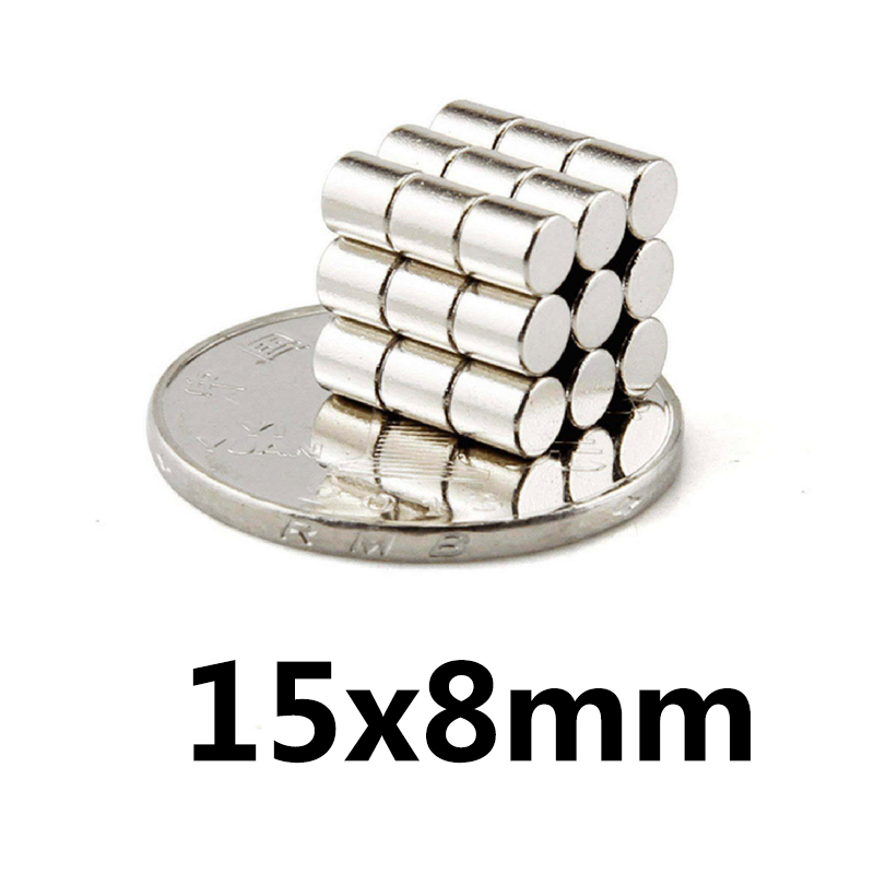 50/100/200 pcs 15mm x8mm strong disc magnets 15x8 neodymium magnets 15 * 8 Art Nouveau connection magnets NdFeB magnets