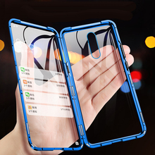 For OPPO Reno 2Z 2F Case 360 Double Sided Metal Magnetic Glass Magnet Case Cover For Reno 2 Z 10X Zoom Shockproof Armor Fundas