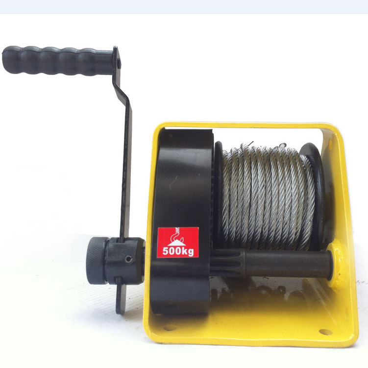 Heavy-Duty Winch With Brake Heavy-Duty Manual Winch Hand-Cranking Traction Machine