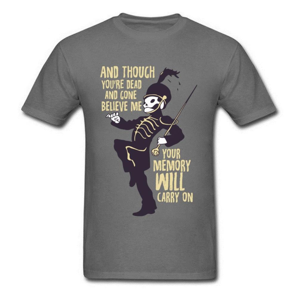 Camiseta de banda de Punk Rock para hombre mi química romántica camiseta esqueleto Día de los Muertos para hombre Camiseta de moda nuevo envío directo
