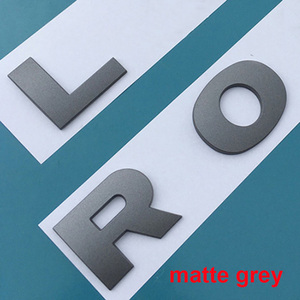Image 2 - For LAND RANGE ROVER SPORT VELAR SV Edition Glossy Black Matte Silver Top ABS Emblem Car Styling Hood Trunk Letters Logo Sticker
