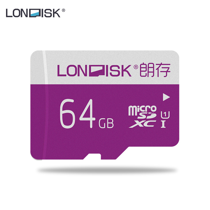 LONDISK 64GB Memory Cards UHS-I (U1) / UHS-I (U3) / Class 10 (C10) MicroSDXC / TF / Flash Card For Android Phone / Drone