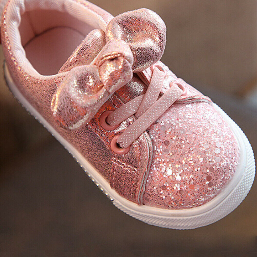 Toddler Baby Girls Casual Shoes /& Headband Set Sequin Kids Crib Shoes Sneakers