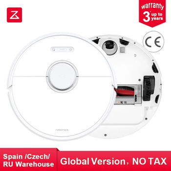Roborock S6 Robot Vacuum Cleaner Works with Google Home Automatic Sweeping Dust Sterilize Smart Planned Washing Powerful Mopping