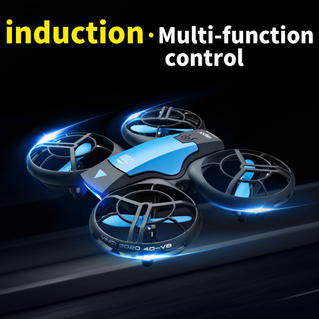 V8 New Mini Drone 4K 1080P HD Camera WiFi Fpv Air Pressure Height Maintain  Foldable Quadcopter RC Dron Toy Gift 2