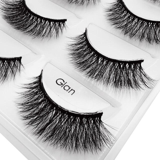 YSDO 5 pairs eyelashes mink strip lashes dramatic eyelashes natural 3d mink eyelashes makeup false eyelashes cilios maquiagem 4