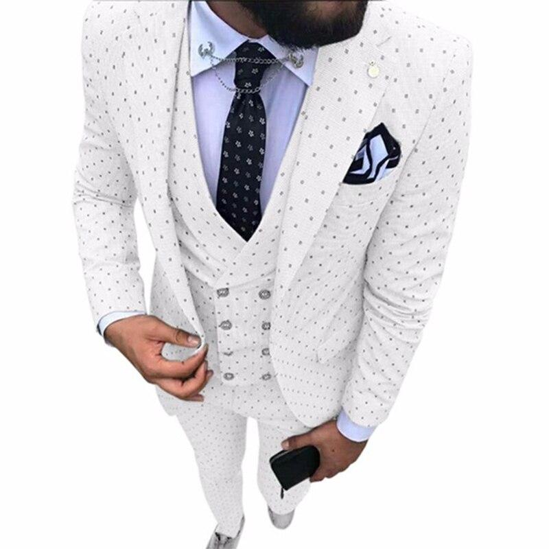 2020 latest coat pant designs Notch Lapel Fashion Party Tuxedos Groom men Suits For Wedding Suit 3 Pieces(Jacket+Pants+Vest)