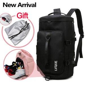 Image 5 - 女性のジムバッグバックパックフィットネス袋屋外ショルダーバッグ Gymtas Tas 嚢デスポーツ Mochila 2020 学生 Sportbag XA891WA