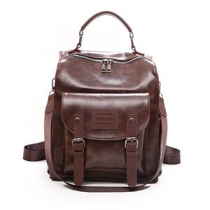 Image 1 - Wysokiej jakości plecak w stylu Retro kobiet plecak torba na ramię londyn styl nastoletnia dziewczyna tornister Mochilas kobiet plecak studencki