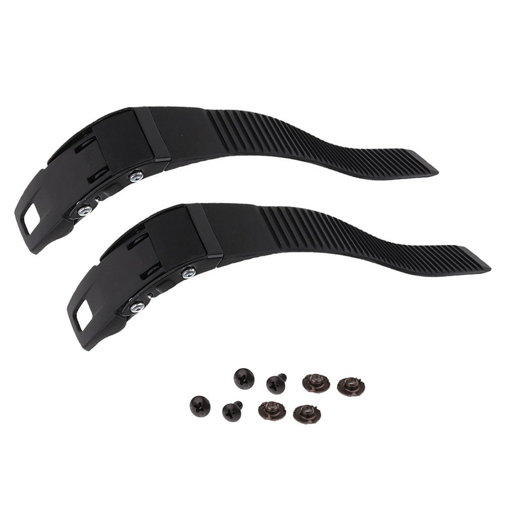 2 Sets Replacement Sturdy Inline Roller Skating Skate Shoes Energy Strap With Screws Nuts Black Scooter Parts Accessory