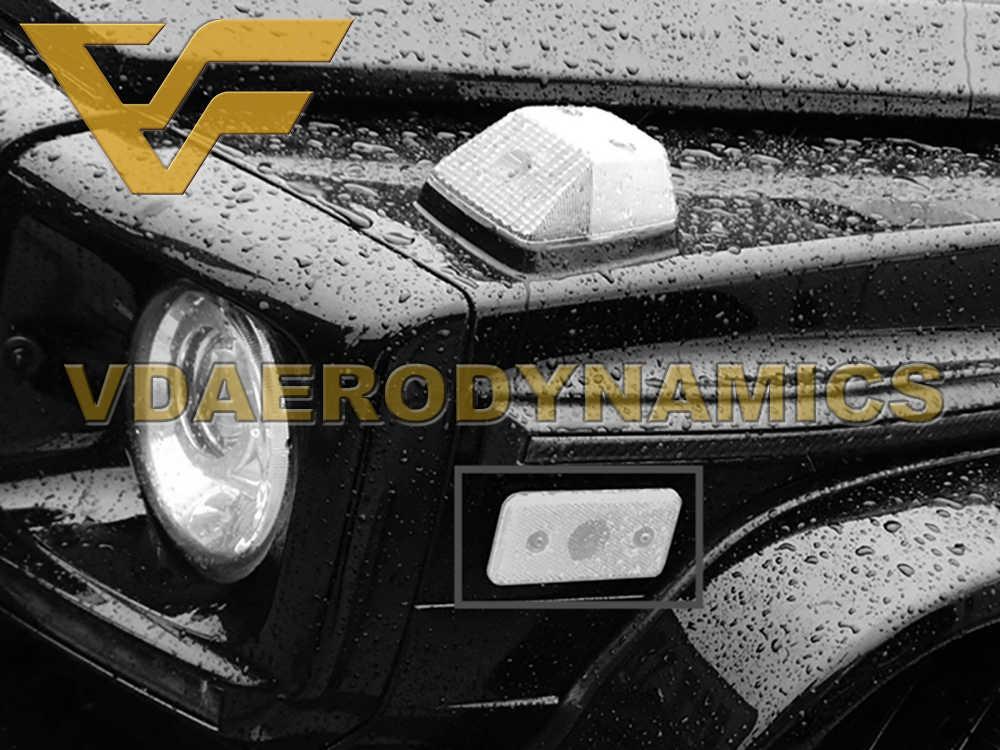 Réflecteur d'aile tournant la lumière de marqueur avec le Logo de G approprié à Benz 1990-2018 W463 G300 G320 G350 G400 G500 G55 G63 G65 un Style