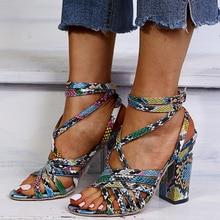 LazySeal Snake 10CM Super High Heel Sandals Women Shoes Cool