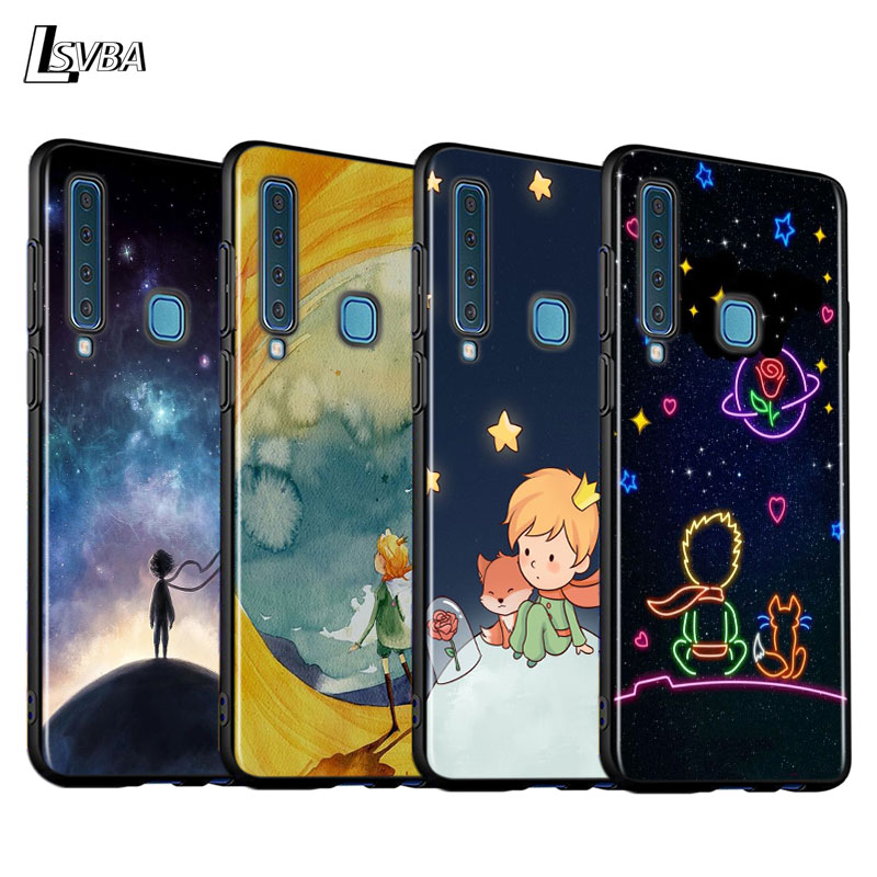 Black Cover Cute little prince for <font><b>Samsung</b></font> A9 A7 2018 Shell for <font><b>Samsung</b></font> Galaxy A8 <font><b>A6</b></font> Plus A5 A3 2018 <font><b>2017</b></font> Phone <font><b>Case</b></font> image