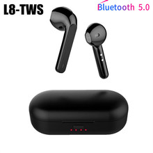 True Bluetooth 5.0 Earphone L8 Tws Wireless Headphons Sport Handsfree Earbuds 3d Stereo Gaming Headset With Mic Charging Box bluetooth headphone wireless earphone sport handsfree earbuds 3d stereo gaming headset with mic charging box
