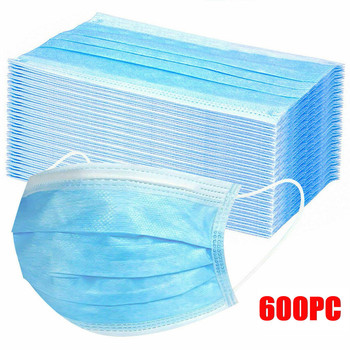 300/600PCS Disposable Cycling Face Mask Sports Mouth Cover 3ply Ear Loop Mouth Cover MTB Road Bike Respirator Facemask