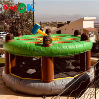 Sayok  Funny Inflatable Human Whack A Mole Game Inflatable Bouncer with Air Blower for Sale