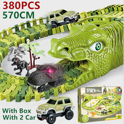 Hot Toys Cars Toy Dinosaurs Tracks Toys Set Train railway racing Track Vehicle Children Toys for kids 2 to 4 years old Christmas
