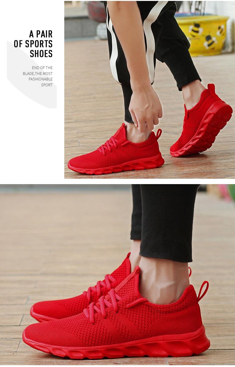 H5b78246ae6fb4e39aea2412eec40cc72r Flyknit Men Shoes Light Sneakers Men Breathable Jogging Shoes for Men Rubber Tenis Masculino Adulto Plus 35 46 48