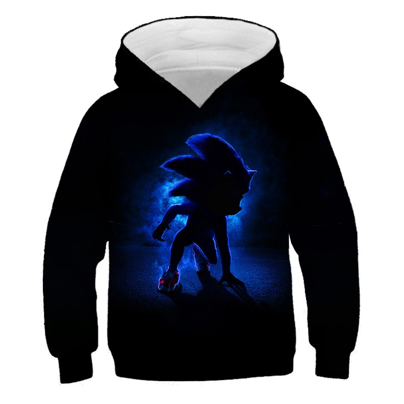 New Arrival Anime Sonic The Hedgehog Kid 3D Printed Hooded Sweatshirts Boy Girl Fashion Casual Pullover Funny Streetwear Hoodies