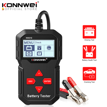 KONNWEI KW210 Automatic Smart 12V Car Battery Tester Auto Battery Analyzer 100 to 2000CCA Cranking Car Battery Tester
