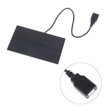 1pcs 5V 1.5W Output USB Solar Battery 5.5V 1.65W Charger Solar Panel 3.7V 18650