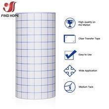 Клейкая виниловая переводная бумажная лента, лист/рулон, прозрачная w/Blue Alignment Grid Mid Tack Sign, Виниловая наклейка, режущая рукоделие, наклейки «с...