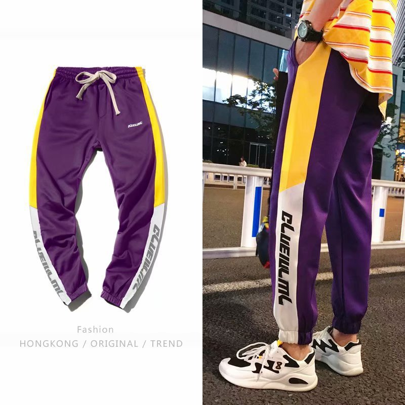 2019 Spring And Summer New Products MEN'S Casual Pants Korean-style Slim Fit Pants Thin Men's Athletic Pants Elastic Waist Long