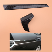 beler 2pcs Carbon Fiber Style Dashboard Protection Panel Trim Cover Fit for BMW 3 Series G20 G21 2019 2020
