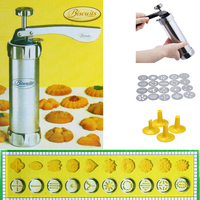 2019 New Biscuit Cookie Making Cookie Press Machine Maker Pump Cake Decor Set With 20 Moulds 4 Nozzles Cookie Tools Cookie Mould