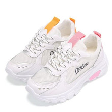 LAIKIHAN new mesh shoes womens breathable openwork wild casual flat sneakers Zapatillas de deporte