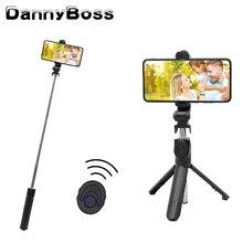 Monopode extensible sans fil de trépied pliable de bâton de Selfie de Bluetooth avec à télécommande pour le Smartphone