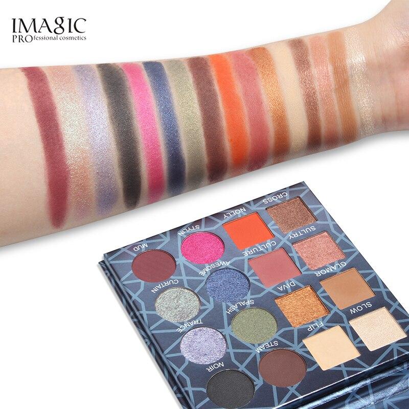 a prova dwaterproof agua maquiagem sombra paleta pigmento glitter 05