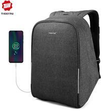 Tigernu z zabezpieczeniem przeciw kradzieży 15.6 cala plecaki na laptopa z osłoną przeciwdeszczową dorywczo twarda osłona mężczyźni kobiety Mochila szkolne torby dla nastolatków