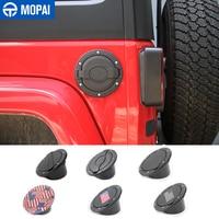 MOPAI-cubiertas de tanque para Jeep Wrangler JK 2007-2017, tapa de aceite de coche, tapa de cubierta de tanque de combustible para Jeep Wrangler, accesorios de estilo de coche
