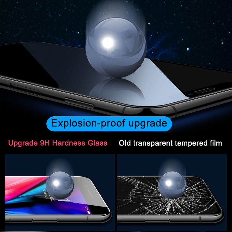 Image 3 - 3Pcs Full Cover Screen Protector For iPhone 6 7 8 6S Plus Tempered Glass On The For iPhone X XR XS MAX Protective Glass Film-in Phone Screen Protectors from Cellphones & Telecommunications