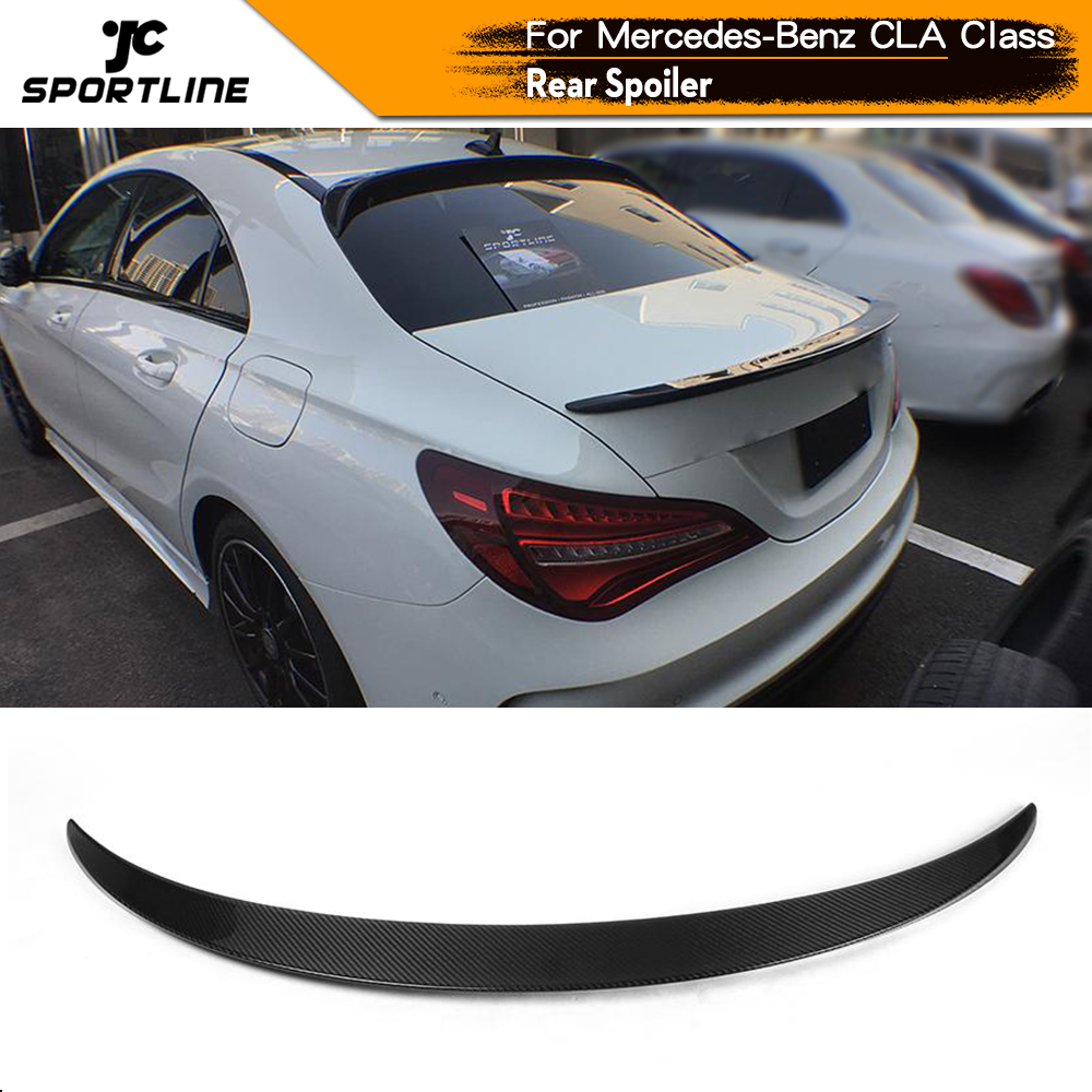 Carbon Fiber / FRP Rear Trunk <font><b>Spoiler</b></font> Boot Wing Lip for Mercedes-Benz CLA Class CLA180 CLA200 <font><b>CLA250</b></font> CLA45 AMG Sedan 2013 - 2017 image