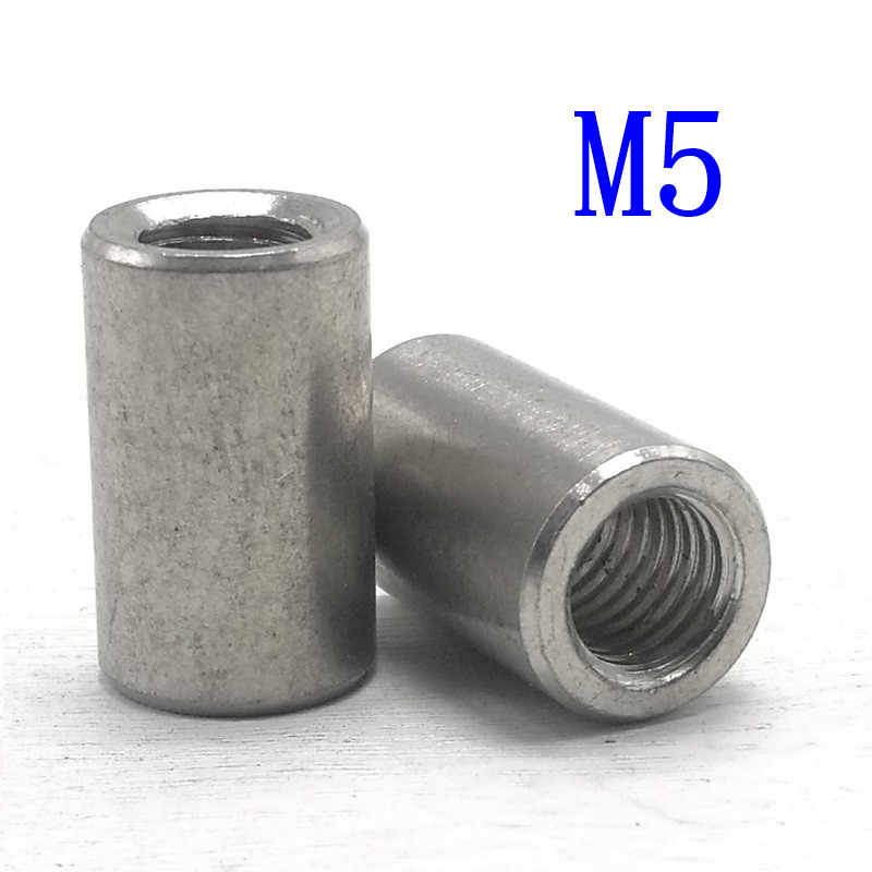 M1650 Long Hex Nut Hexagonal Thread Nut Threaded Fasteners for machinery industry 2Pcs Zinc Plated Steel Long Rod Nut