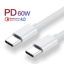 USB Type C to USB C Cable For Xiaomi Mi 8 9 60W PD QC 4.0 USBC Fast Charge USB-C For Macbook Samsung Galaxy S10 Type-C Data Cord