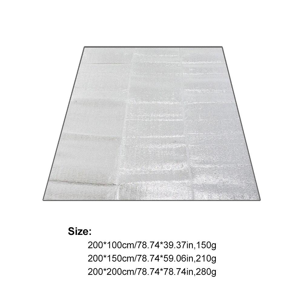 Сверхлегкий водонепроницаемый кемпинг коврик пикник одеяло пляж матрас кровать подушка алюминий фольга EVA пена коврик открытый палатка след