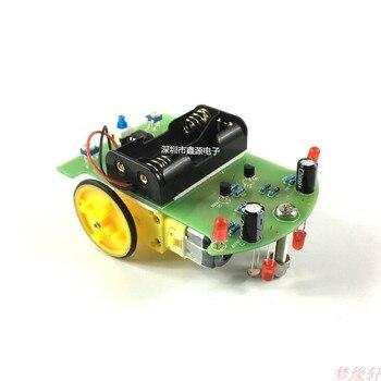 Producción electrónica, DIY, kit de coche de seguimiento inteligente, línea D21, componentes de coche patrulla, producción de tecnología