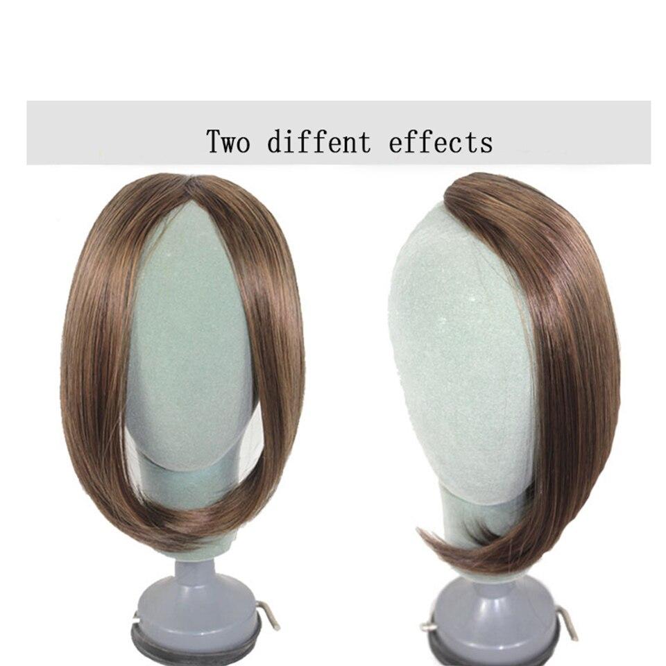 HOUYAN, модные длинные волосы на заколках спереди, боковая бахрома, накладные волосы, настоящие натуральные синтетические волосы с челкой