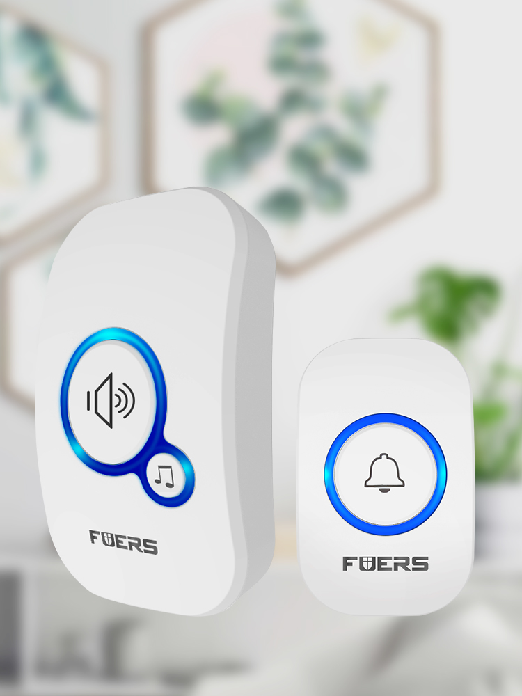 Smart Doorbell Welcome 32-Songs 433mhz Wireless-Distance Home Long FUERS M557 150M