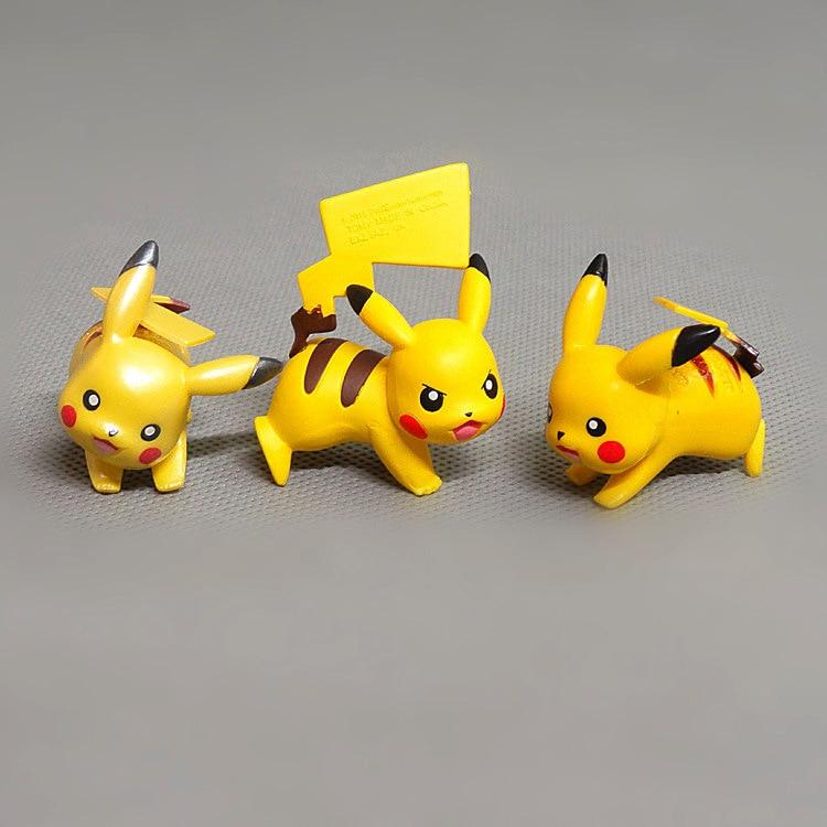 3.5cm Pokemon Pikachu Action Figures Mini Doll Toy Pikachu Yellow Elf Anime Model Toy Birthday Gift For Kids Birthday Gift Decor