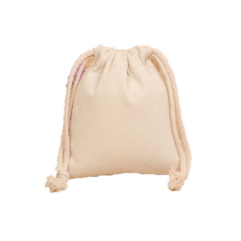 100% กระเป๋าสตางค์ String กระเป๋าผ้าฝ้ายสายคล้องกระเป๋าเสื้อผ้ารองเท้า Drawstring Bundle กระเป๋า