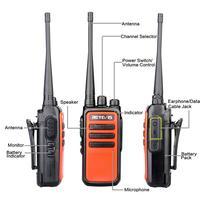 ווקי טוקי 2pcs Retevis RT666 / RT66 מכשיר קשר PMR רדיו UHF PMR 446 USB VOX טעינת שתי דרך רדיו המשדר Comunicador ווקי טוקי (3)