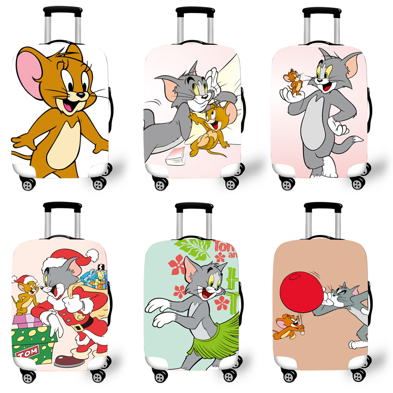 Elastic Luggage Protective Cover Case For Suitcase Protective Cover Trolley Cases Covers 3D Travel Accessories Tom Pattern T0120