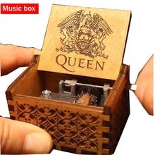 Горячая Королева Музыкальная шкатулка деревянная резьба ручной работы Звездные войны музыкальная шкатулка игра на трон День рождения Рождественский подарок для друга